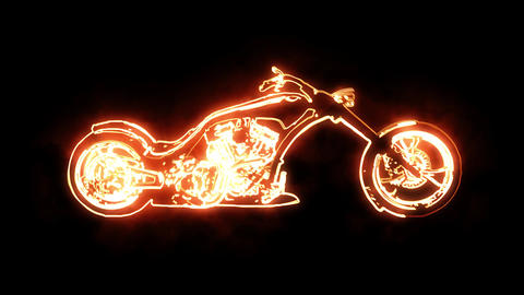 Shining Custom Chopper Motorcycle Animation Logo Graphic Element Animation