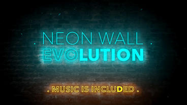 Neon Wall Evolution - Apple Motion and Final Cut Pro X Template Apple Motionテンプレート