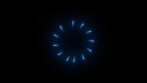 Blue Light Burst Animation