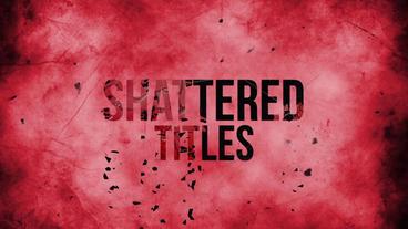 SHATTERED TITLES Plantilla de After Effects