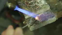 Attaching jewelry parts with solder Footage