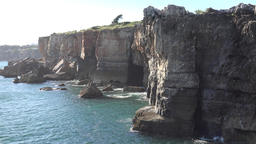 Cliffs And Water On Coast Live Action