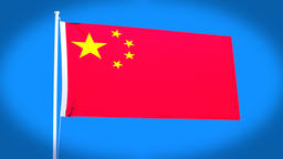 the national flag of China CG動画
