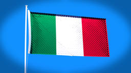the national flag of Italy Animation