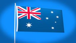 the national flag of Australia Animation