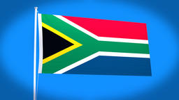 the national flag of South Africa CG動画