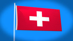the national flag of Switzerland Animation