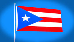 the national flag of Puerto Rico Animation