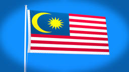the national flag of Malaysia CG動画