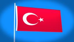 the national flag of Turkey CG動画