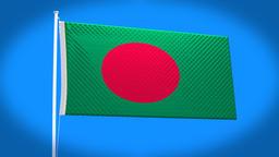 the national flag of Bangladesh CG動画