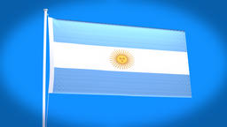 the national flag of Argentine CG動画