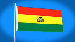 the national flag of Bolibia CG動画