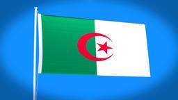the national flag of Algeria CG動画