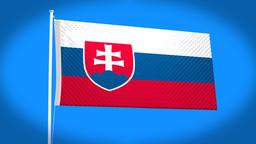 the national flag of Slovakia Animation
