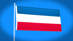 the national flag of Serbia and montenegro Animation