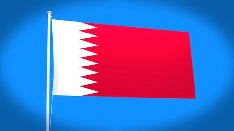 the national flag of Bahrain Animation