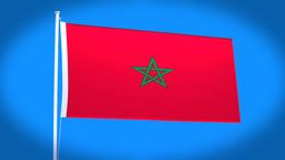 the national flag of Morocco Animation