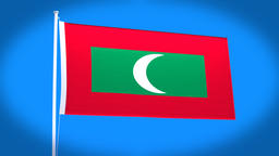 the national flag of Maldives Animation