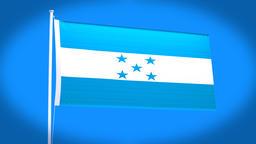 the national flag of Honduras Animation