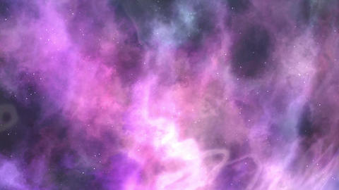 Violet-purple Space Nebula Background CG動画素材