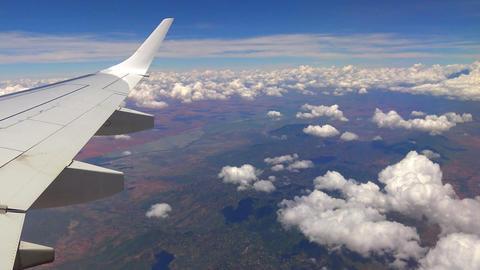 Flight of aircraft over Tanzania. Africa Footage