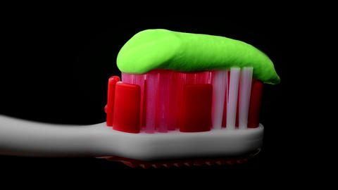4K Tooth Paste and Brush Footage