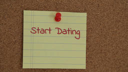 Dating reminder note on a bulletin board Footage