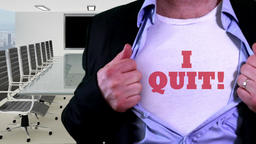 Employee quit concept shirt Footage