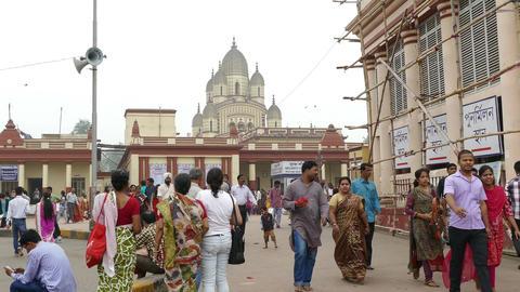 Dakshineswar Kali Temple Kolkata Main Gates India Time Lapse 4k Footage
