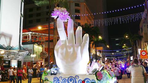 Buddha Hand Malaysia Festival Kuala Lumpur Asia 4k Filmmaterial