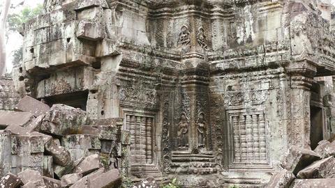 Cambodia Angkor Wat Panorama Wall Details 4k 画像