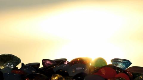 precious gemstones against sun - slow zoom video Footage