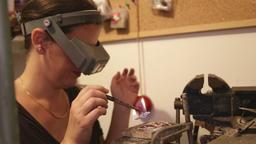 Jewelry Designer in her workshop Footage