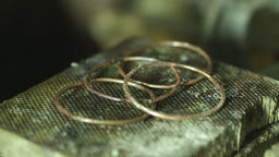 Macro detail shot of making jewelry Footage