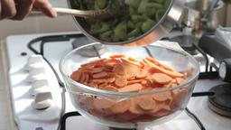 Making vegetarian pie Footage