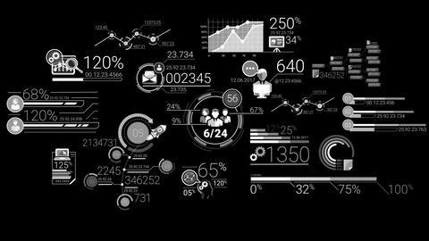Business Infographics White Elements Animation
