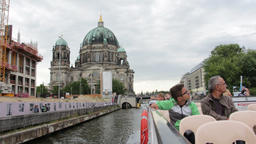 Tourist boat sailing on the spree Footage