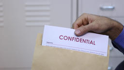 Confidential documents in envelope Footage