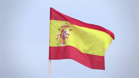 Video of Spanish Flag in real slow motion Filmmaterial