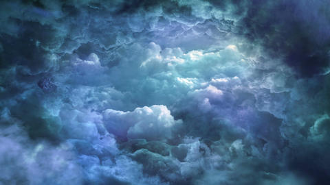 Dark Sky in Blue Tones CG動画素材