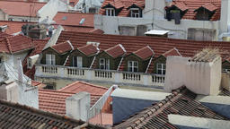 Red rooftops of Lisbon Footage