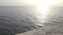 Rosh Hanikra Panoramic view of the sea and cliffs Footage