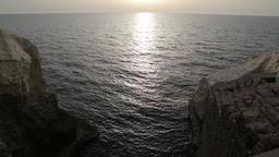 Sea water between two rocks Footage