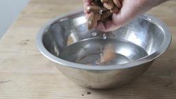 Soaking almonds in water Footage