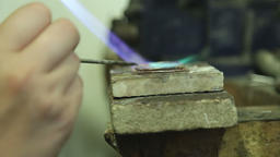 soldering jewelry close up Footage