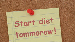 start diet tomorrow note Footage