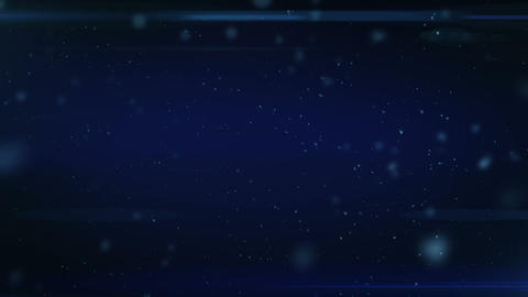 Dust in Space. Dark Blue Background with Flares. Looped. HD 1080 Animation