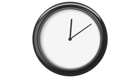 Clock with Blank Dial. HD 1080. Loop. Isolated on White, Stock Animation