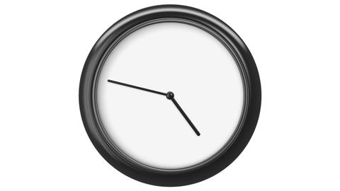 Clock with Blank Dial. HD 1080. Loop. Isolated on White Animation